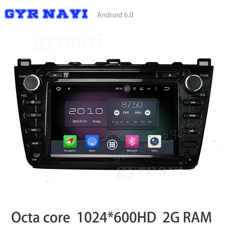 Octa core Android 6 0 Car DVD gps For Mazda 6 Ruiyi Ultra 2008 2012 with