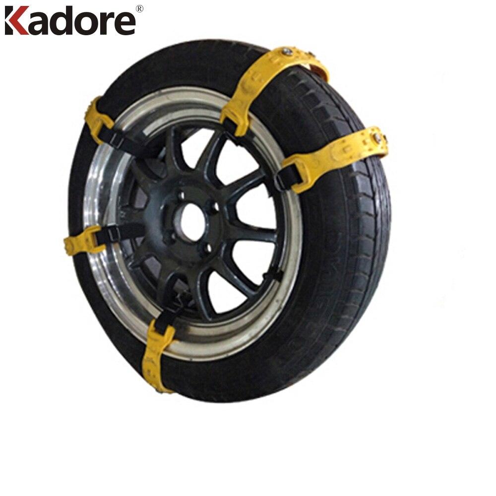 Car Wheel Tire Winter Snow Anti-Skid Chains TPU Thickened Vehicle Beef Tendon VAN Tyre Antiskid Chain Yellow Auto Accessories