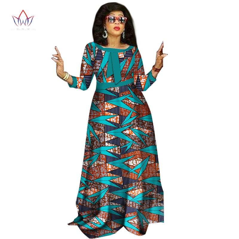 2017 afrikanske kjoler til damer Mote Design dashiki kvinner bazin - Nasjonale klær - Bilde 5