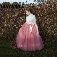 Autumn Maxi Skirt 6 Layers Tulle Skirt Elastic 100cm Length Long Skirt Womens Summer Style High