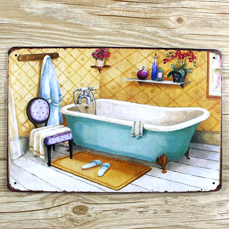New 2015 Tin Signs About Washroom Retro Home Decoration House Cafe Bar Vintage Metal Plaque Painting