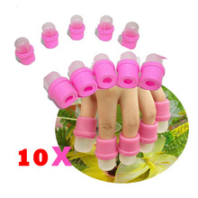 Pro Nail Art Tools 10PCS Practical Nail Polish Remover Caps Artificial Nail Tips Removing Accessories Beauty Makeup For Women TN