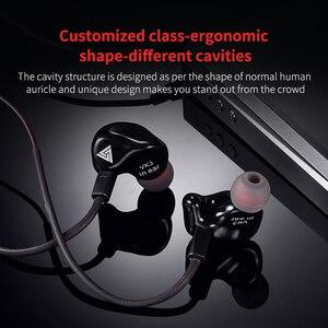 Image 5 - Оригинальные проводные наушники вкладыши QKZ VK3, наушники вкладыши 3,5 мм, спортивные Микронаушники для iPhone, Xiaomi с микрофоном