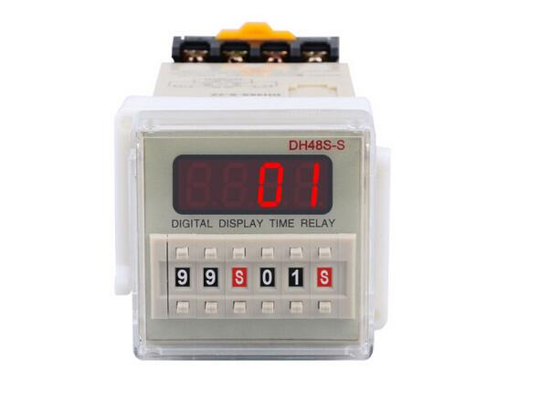 DH48S-S-2Z time relay / timer / counter with socket (AC 220V 110V DC/AC 24V 12V Remark when making payment) zys48 s dh48s s ac 220v repeat cycle dpdt time delay relay timer counter with socket base 220vac