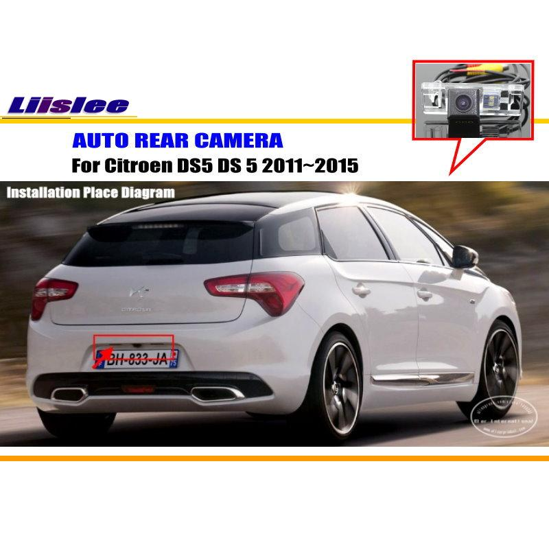 Liislee Car Parking Camera / Reverse Camera For Citroen DS5 DS 5 2011~2015 / RearView Camera / License Plate Lamp OEM