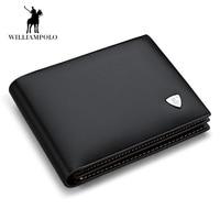 NEW designe euro Genuine Leather Men Wallets Brand Male Cow Leather Wallet Black Small Purse Short ID Card Dollar Bill Wallet