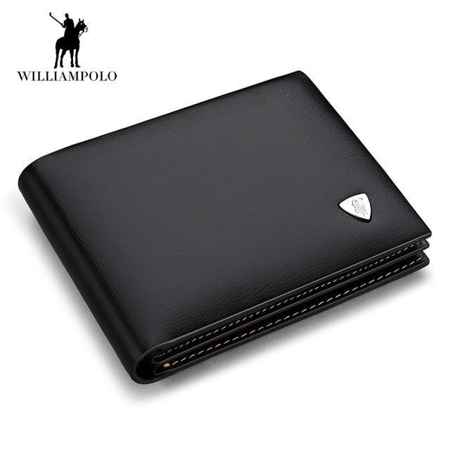 2440b34d7 Nuevo diseño euro cuero genuino hombres carteras marca hombre vaca cuero  billetera negro pequeño monedero corto
