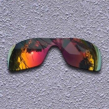 566621a2bd004 Roxo Vermelho Polarizado Lentes de Reposição para óculos Oakley Batwolf  Óculos De Sol