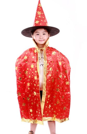 Tprpco Boy Girl Kids Children Halloween Costumes Witch Wizard Cloak Gown Robe And Hat Cap Stars Fancy Cosplay For Boys Girls 739 Home