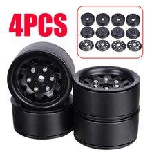 4 יח\סט 1.9 אינץ סגסוגת מתכת גלגל חישוקים גלגל שפת רכזת סט עבור SCX10 D90 90046 1/10 RC מכונית