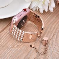 Luxury Women 25pcs Diamond Band For Apple Watch Series 4/3/2/1 Bracelet Stainless Steel Strap for iWatch 4 38mm 40mm Wristband