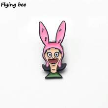 Flyingbee Bobs Burgers Enamel Pin For Clothes Bags Backpack badge Personality Brooch Shirt Lapel Pins X0207