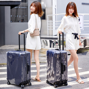"""Image 4 - Thicken PVC Luggage Cover Transparent Suitcase Covers with Zipper Free Dismantling Clear Luggage Protector Cover 22""""24""""26""""28""""30"""""""