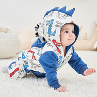 2019 SPRING New INS Hot Unicorn Dinosaur Rainbow Horse Long Sleeve Baby Clothes Baby Girl Romper Baby Onesie Unisex CLASS A
