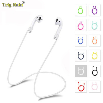 Earphone Strap For Airpods Anti Lost Strap String Rope For Bluetooth earphones Silicone Cable Cord for apple airpods 1 2 sports anti lost headphone cord high end magnetic anti lost headphone cord