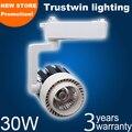 COB LED track light 30W white ceiling LED track spot light 30W LED rail light 220V 30W COB LED track spotlight 30W