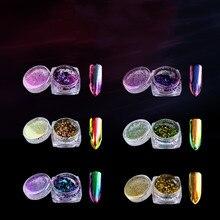 6301FK Новое поступление Экологичные оптом лучшее качество быстрое погружение зеркало хамелеон ногтей акриловая пудра