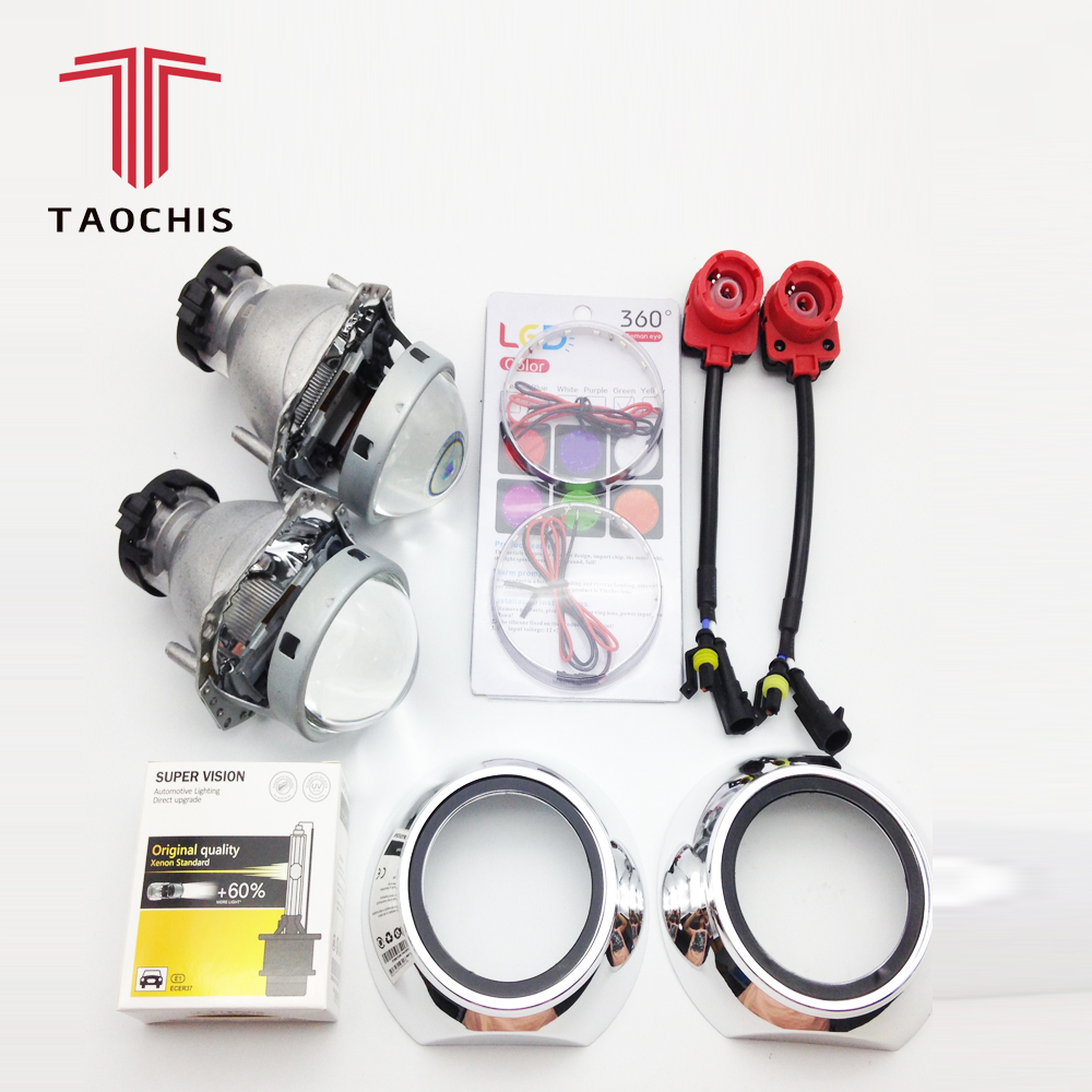 TAOCHIS Hella 3R G5 Projector Lens Set HID Bi xenon D2S D1S D3S D4S Shroud Devil Eyes Modify Head Light Lamp Upgrade Super Lens upgrade auto car headlight 3 0 inch hid bi xenon for hella 3r g5 5 projector lens replace headlamp retrofit d1s d2s d3s d4s