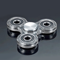 Fidget Spinner Transparent Black Spinner Fidget Toy Plastic EDC Hand Spinner Acrylic Thicker Spiral Finger Spinner