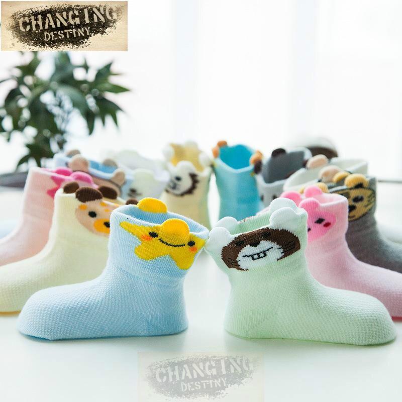 0-5 Years Old NewBorn Kids Children Toddler Lovely Cartoon Sock Suitable Baby Boys Girls Cute Cotton Mesh Thin Socks