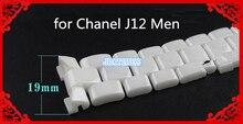 Frete Grátis 1 pcs Brand New 19mm Cerâmica Branca Strap Banda do Cinto Banda Pulseira para Homem J12 Reparação