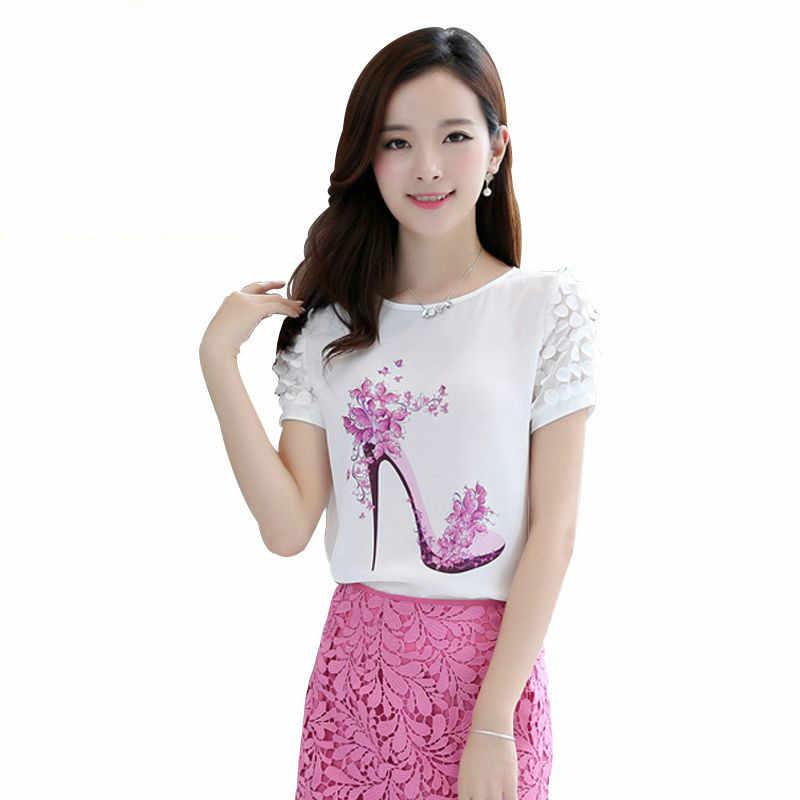 9c5890924 Nueva Blusa de gasa de manga corta informal de moda Coreana de verano para  mujer
