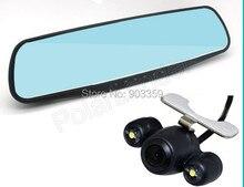 "On sale Hot Sale 4.3"" Full HD 1080P  4x Digital Zoom  Rearview Mirror Video Recorder Car DVR Dual Night Vision Parking Camera G-Sensor"