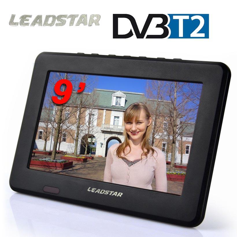 LEADSTAR TV HD Digitale E Analogico Ricevitore LED Televisori Televisione auto TV di Sostegno TF Card USB Audio Riproduzione Video DVB-T2 AC3