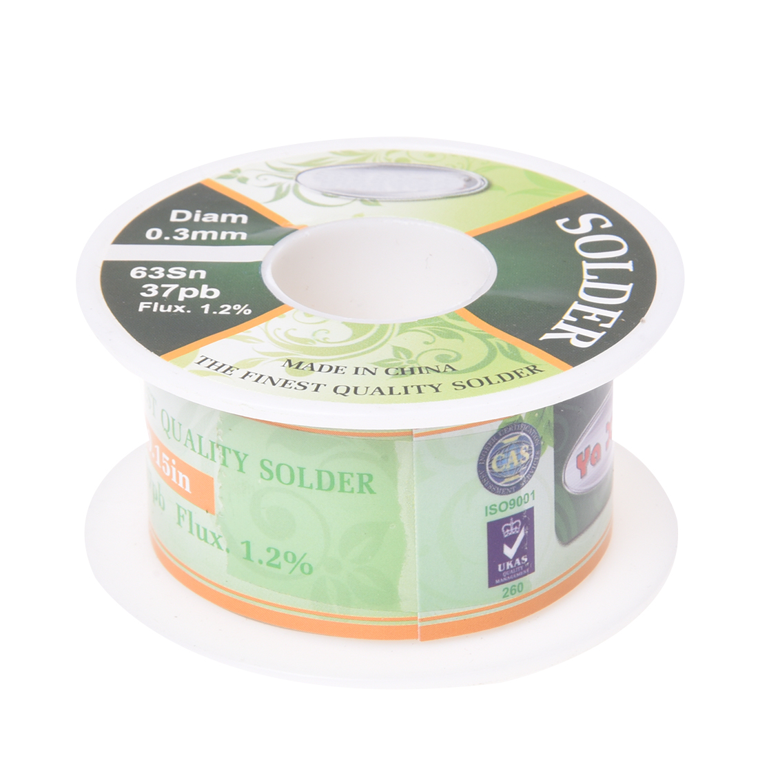 The Finest Quality Solder 0.3mm Dia,1.2% Flux,63Sn/37Pb, Wire Reel Drop Shipping