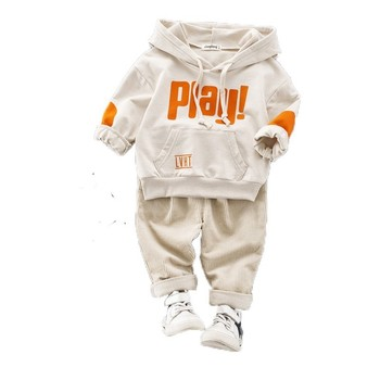 New Spring Autumn Cotton Clothes Baby Girls Boys Sports Kids Hooded T Shirt Pants 2pcs/Sets Children Kids Casual Suit Tracksuits new spring autumn girls clothing sets kids sports suit casual girls cartoon t shirt pant 2pcs children clothes 4 6 8 10 12 years
