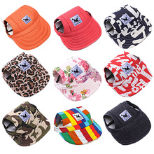 Sun Hat For Dogs Fashion Søt Pet Dog Casual Bomull Baseball Cap Chihuahua Yorkshire Pet Products 11Colors Gratis frakt 30