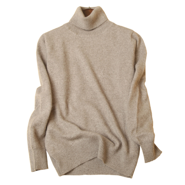 2018 Cashmere Sweaters Women's Knitted Sweaters Autumn/Winter High-Neck Warmth Sweater Women's Pullovers High-Neck Large Size
