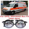 Для OPEL MOVANO Box F9 Combi J9 Платформа Шасси U9 E9 1999-2010 Противотуманные фары LED Автомобилей Стайлинг 10 Вт Желтый Белый 2016 новый огни