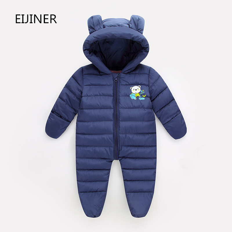2017 Newborn winter outerwear baby rompers cotton padded infant baby girl clothes thickening jumpsuits long Sleeve Baby Clothes branded baby rompers pajamas newborn baby clothes cartoon infant cotton long sleeve jumpsuits boy girl autumn bird clothes wear