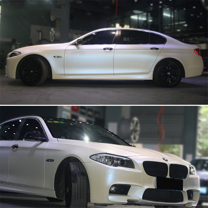 Pearlescent Satin Matte white Pearl blue Matt Chameleon Vinyl Car Wrap Film Bubble Free Vehicle Styling Hot selling to Turkey аккумулятор iwalk chameleon immortal i6 100144st white