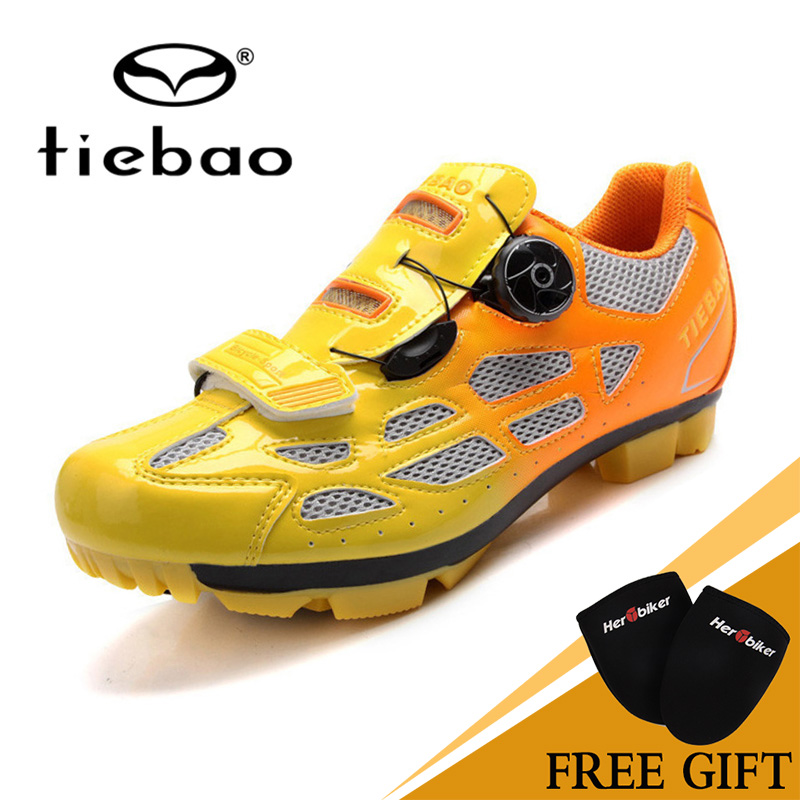 Hot Tiebao Mountain Biking Shoes Professional Bicycle Lock Rotating Buckle Fast With Sneakers Outdoor Sport MTB Cycling Shoes tiebao professional road shoes rotating screw steel wire with fast cycling shoes road bike shoes tb16 b1259