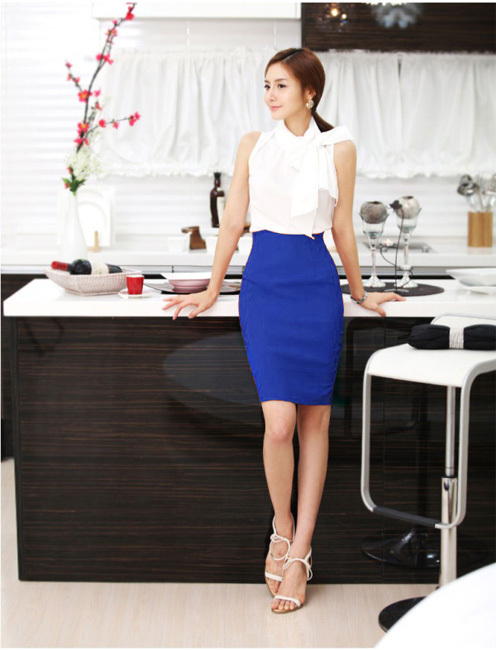 2016 Summer Korean Fashion Women's Skirt High Waist A line Tight ...