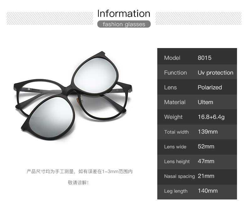 6ffa6384ff6 Товар Women   Men Polarized Magnetic Clip Glasses Male Driving Clip ...