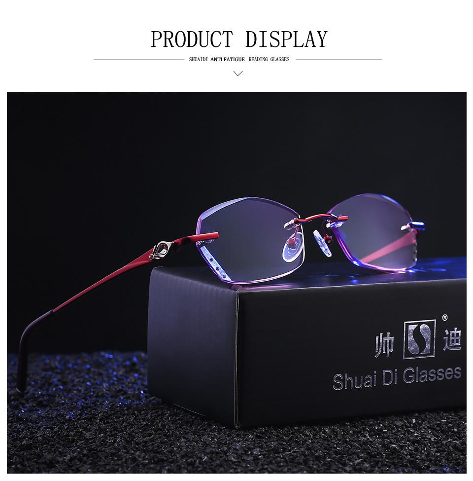 e5735dd359e Fashionable Reading Glasses Women Purple Resin Lenses Eyewear Ladies ...