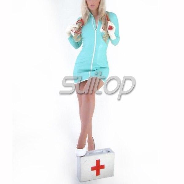latex party dress latex gloves dress garment uniform nurse cosplay SEXY