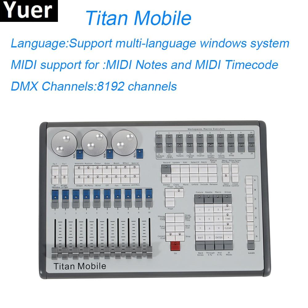 Titan Mobile Stage Lighting Controller 8192 Channels Professional Lighting Console Stage Lighting Dj Disco Lights Equipments