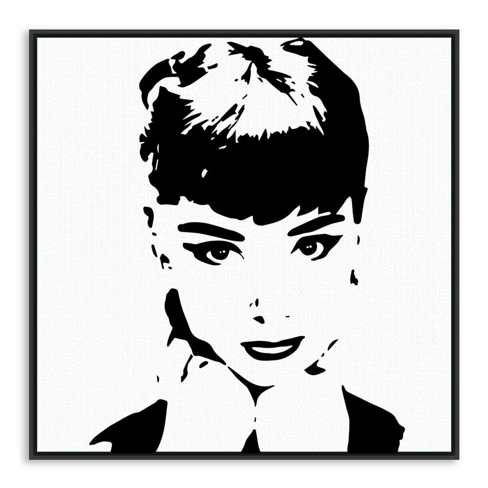 Pop Art Poster Black And White