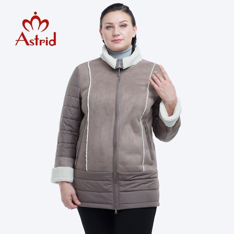 Astrid winter jacket women Warm coats female Plus Size Outerwear solid hooded Coats Slim Cotton winter