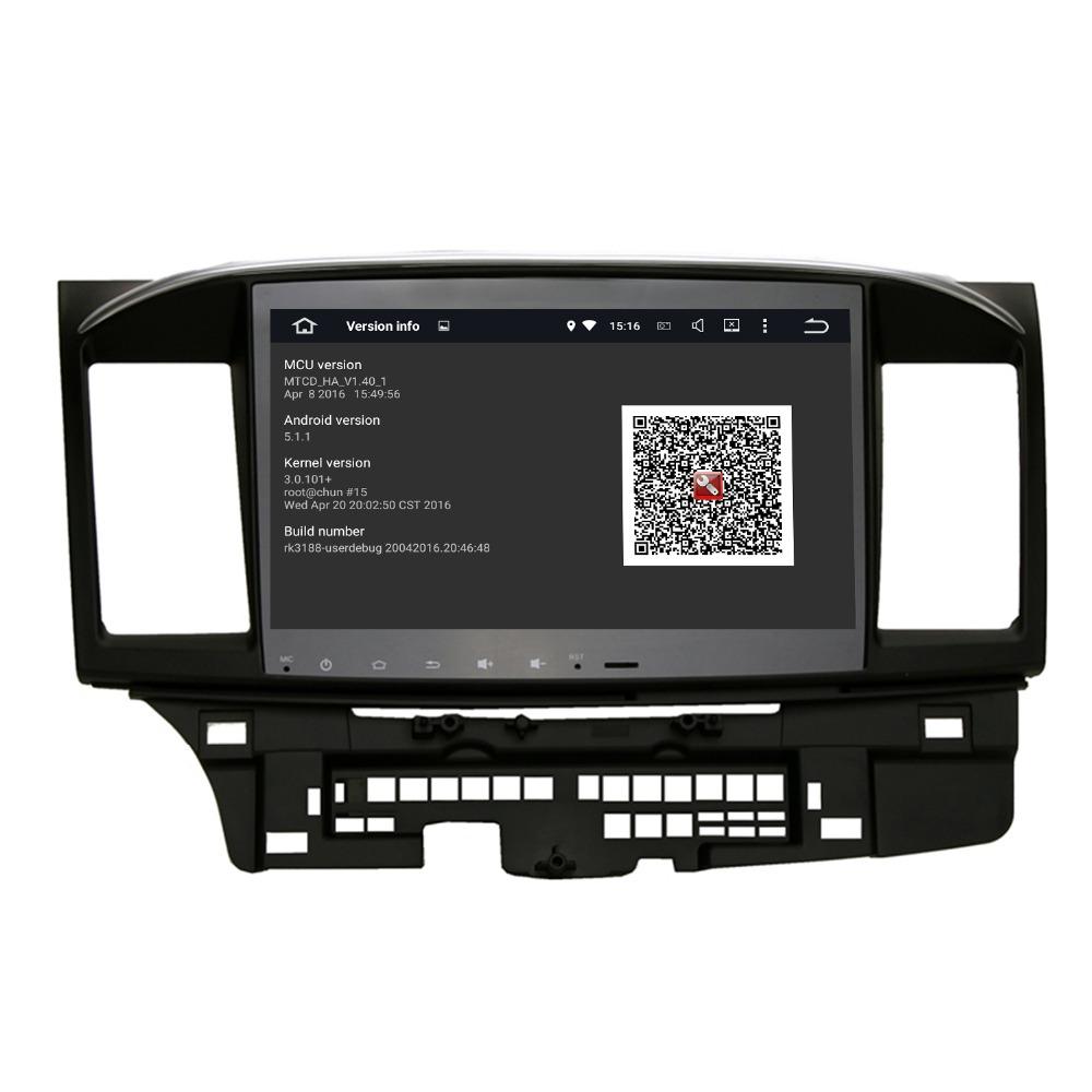 Prix pour Quad Cordon android 5.1.1 GPS Radio pour Mitsubishi Lancer 10.2 pouces 1024X600 écran 2 DIN headunit stéréo WIFI 3G livraison carte