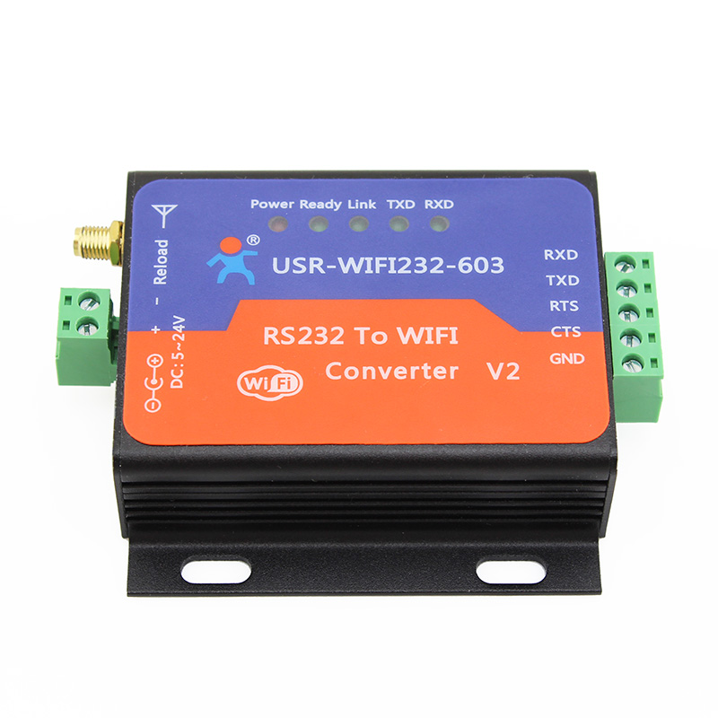 ФОТО F18831 USR-WIFI232-603 V2 RS232 Wifi Wireless to Serial Server Converter Module Built-in Webpage with RS232 Terminal Interface