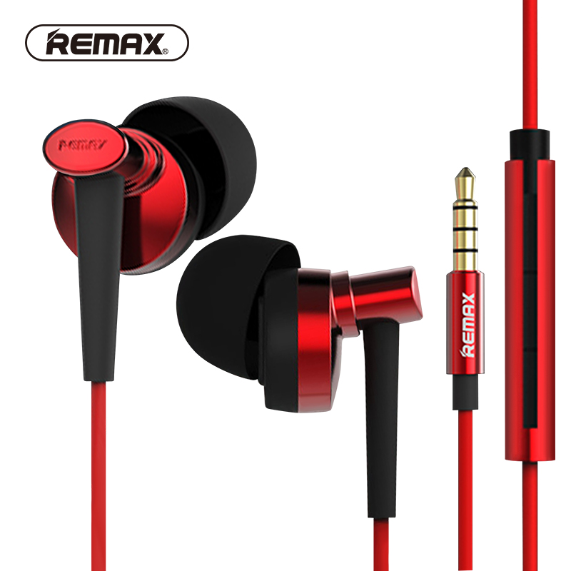 REMAX Noise isolating supper clear In-ear earphones with HD mic Tone quality class sound earhuds for phone/MP3 fone de ouvido 3 5mm in ear earphones with mic