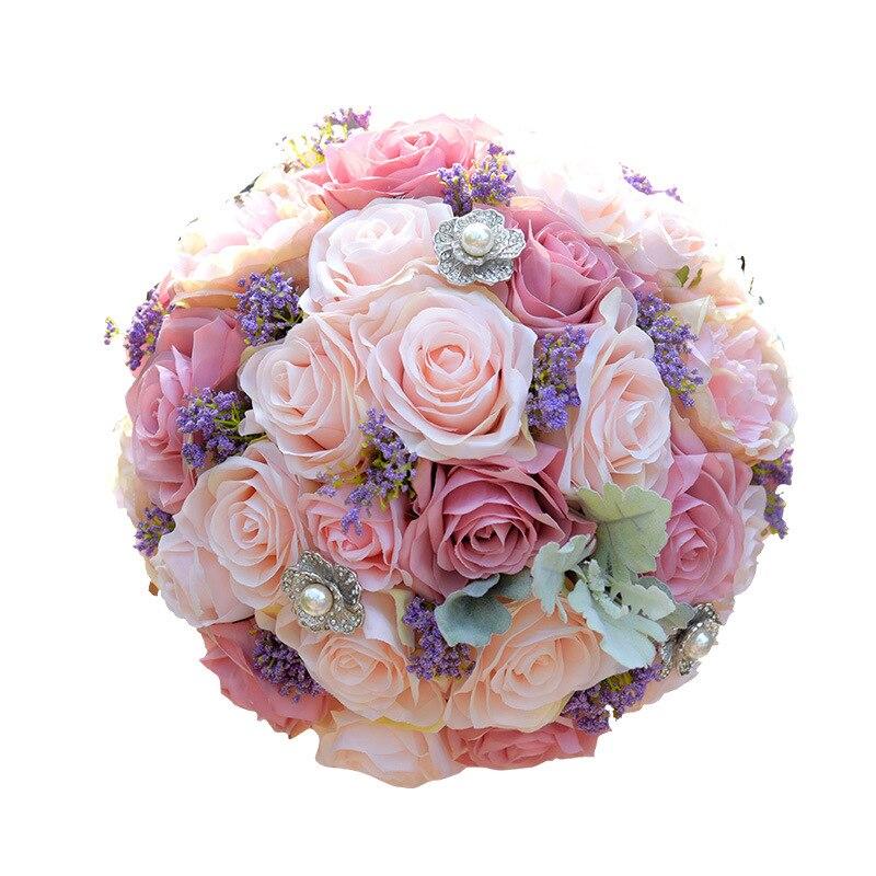 Bouquet de mariée européenne Chaise Longue Roses, fausses fleurs décoration de la maison émulation rouge & vert Lime Bouquet de mariage