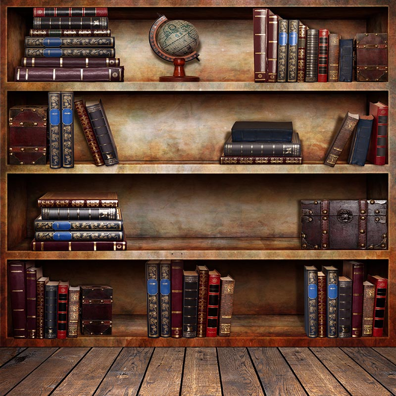 Graduation season Thin Vinyl photography Vintage Book Shelf Backdrop - book case, book store - Printed Fabric  Background F-2691 thin vinyl vintage book shelf backdrop book case library book store printed fabric photography background f 2686