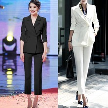 2017 Spring and Autumn autumn winter OL small suit jacket + pants casual professional women fashion two sets