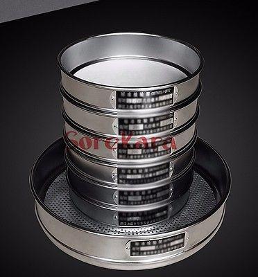 Dia 30cm (20mesh-200mesh) Stainless Steel Net Chroming Body Test Sieve Standard Test Sieve Laboratory Sieve